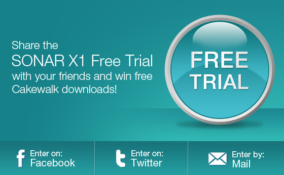 SONAR X1 Free Trial