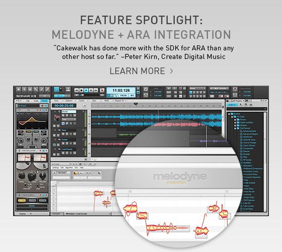 SONAR X3 Feature Spotlight: Melodyne Essential with ARA