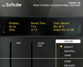 TSAR-1R Reverb preview