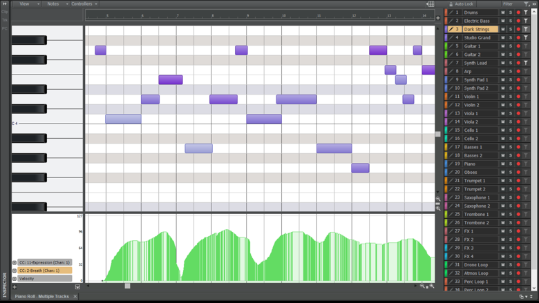 Piano Roll View Enhancements
