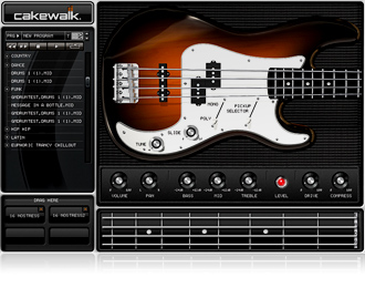 Virtual Bass Guitar