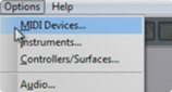 MIDI Devices Setup