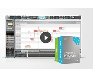 Buy SONAR X3 Studio or Producer and get a free video download!