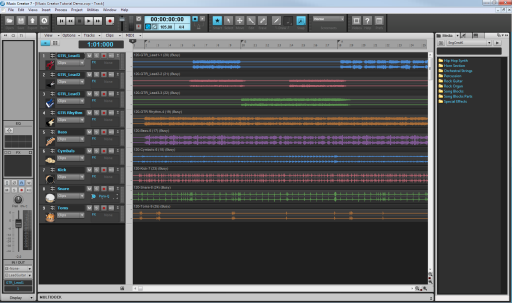 Cakewalk music creator 6 touch documentation opening project files.