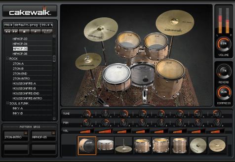 Download cakewalk si drum kit download software: drum kit samples.