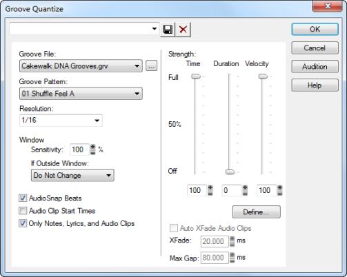 Cakewalk - SONAR LE Documentation - Quantizing