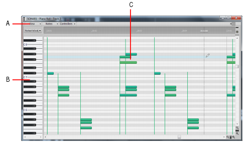 how to get piano roll in ableton