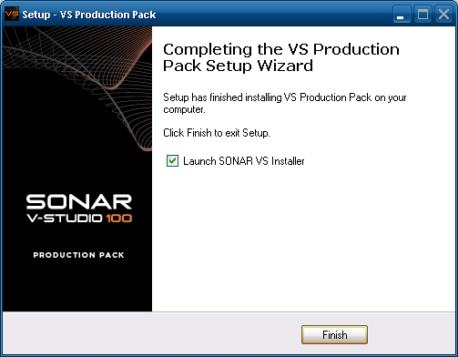 Launch SONAR VS Installer