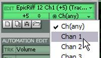 Pattern MIDI-Send channel