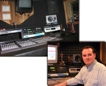 Douglas Spotted Eagle in the studio