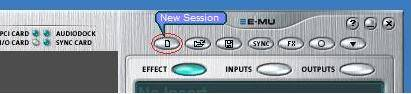 New Session button