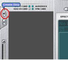 Create strips button