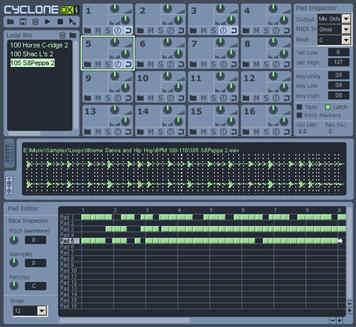 Cyclone DXi Screen Shot